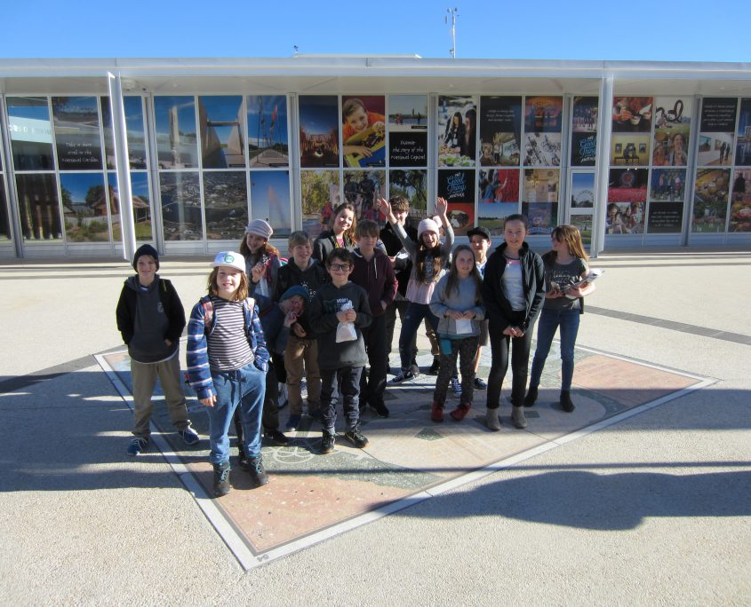 Lance Holt students at the Exhibition centre on Canberra school camp