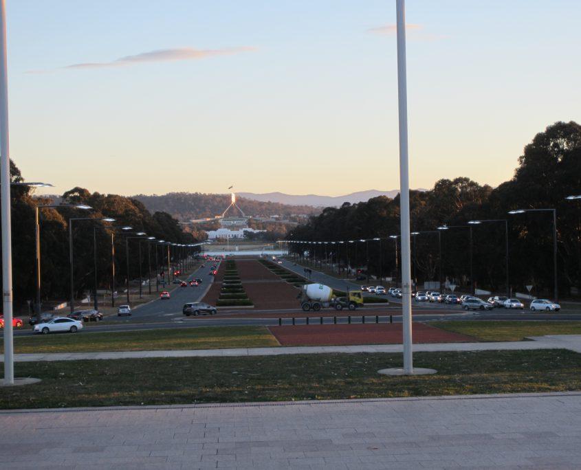 Anzac Avenue in Canberra