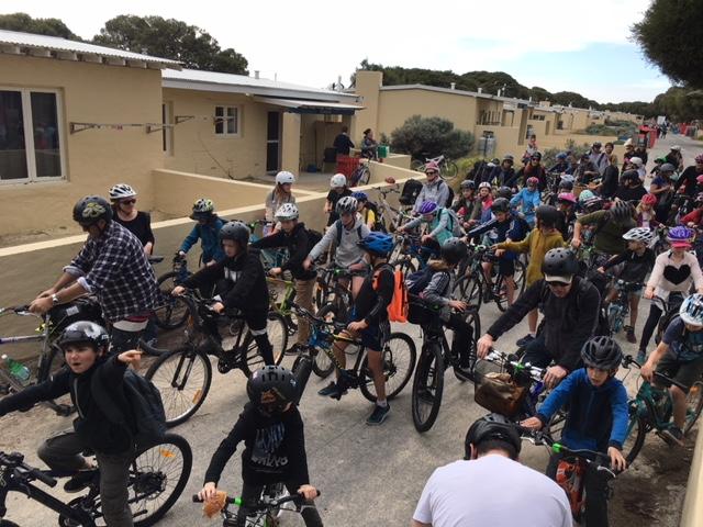 biking group photo