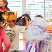 Children doing drama lesson