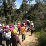 fremantle primary school students going on a hike