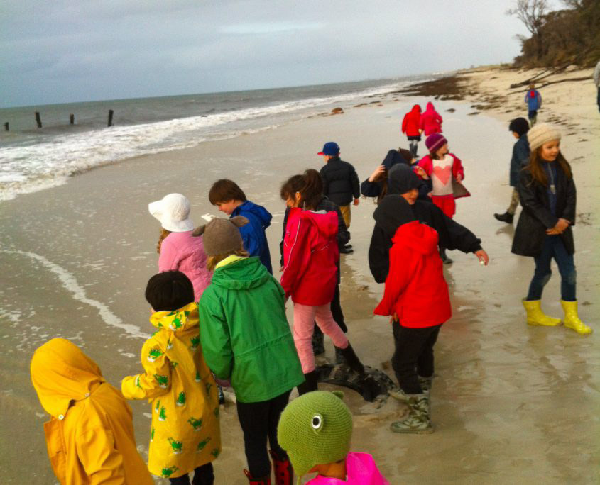 Lance Holt students on beach at Busselton