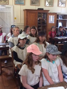 Students role playing at Albany school camp