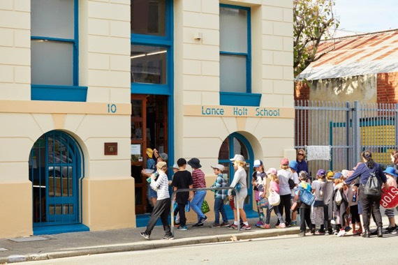 entering lance holt school in fremantle's west end