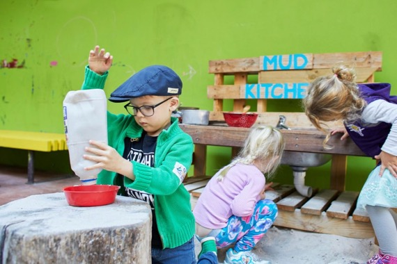 mud kitchen area - play learning