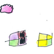 kids artwork of windows and cloud