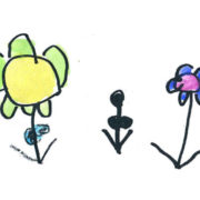 Kids drawing of flowers