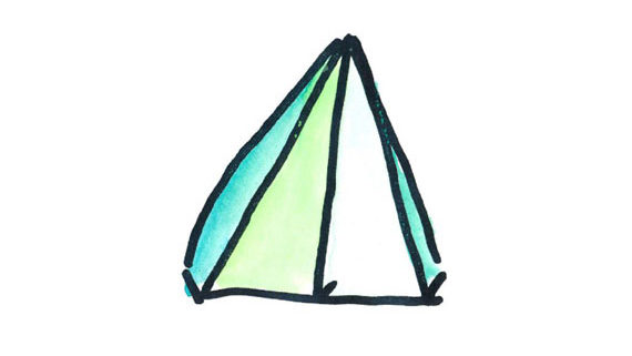 kids drawing of a tent
