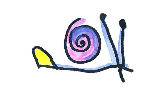 snail art piece